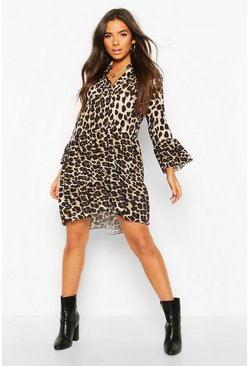 Leopard Tiered Smock Dress