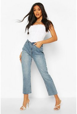 Light blue High Rise Straight Leg Jeans