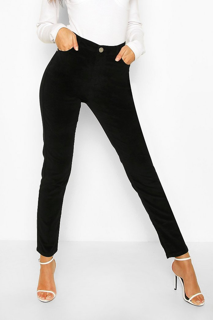 vita jeans dam hög midja