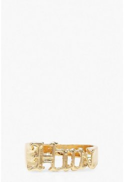 Gold Hun Slogan Ring