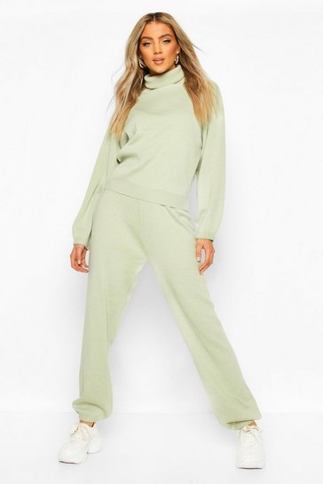 Sage Oversized Roll Neck Lounge Set