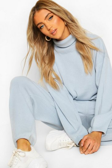Sky Oversized Roll Neck Lounge Set