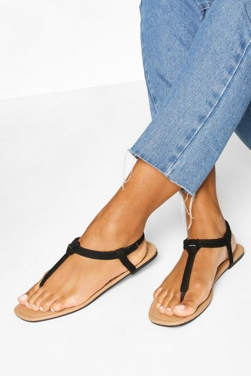 Multi 2 Pack Square Toe Thong Sandals