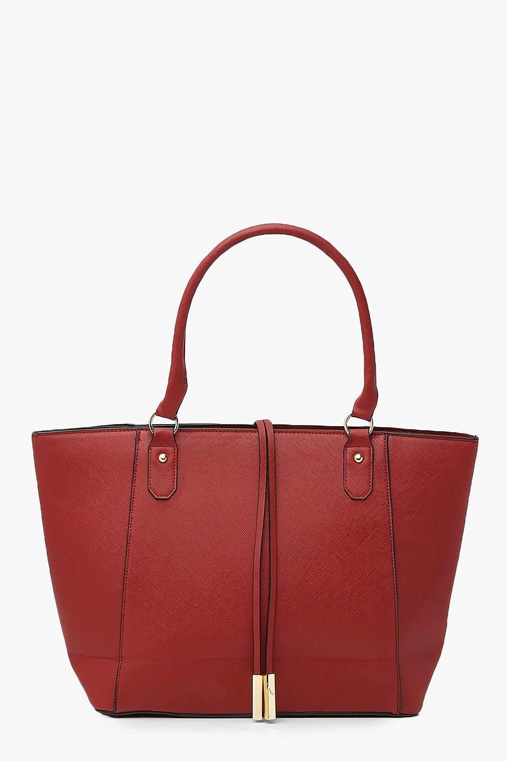 womens structured cross hatch tote bag - one size