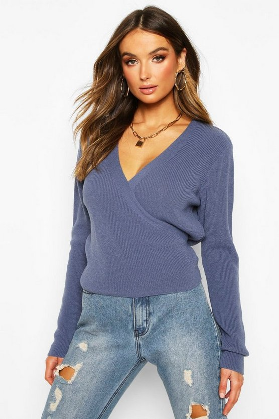 Cropped Knitted Tie Front Cardigan