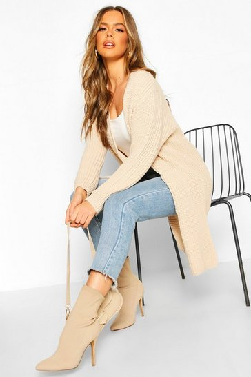 Womens Stone Edge To Edge Pocket Detail Cardi