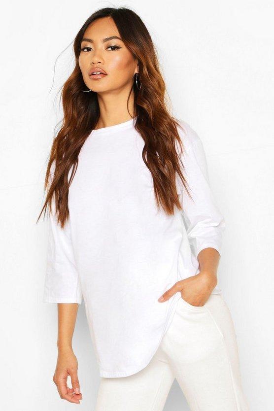 Curve Hem Overszied T-Shirt