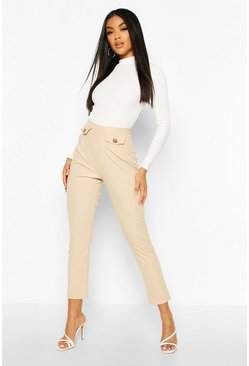 Ribbed Pocket Trouser, Stone