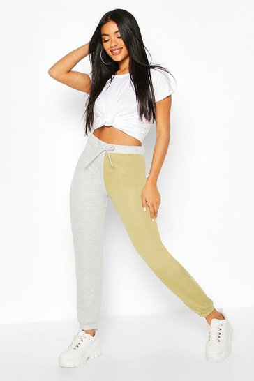Grey Two Tone High Waist Jogger