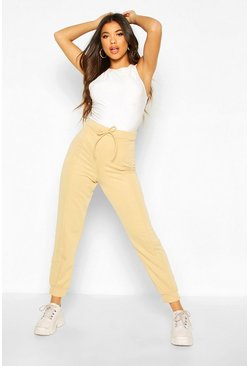 Sand Basic Seamed Joggers