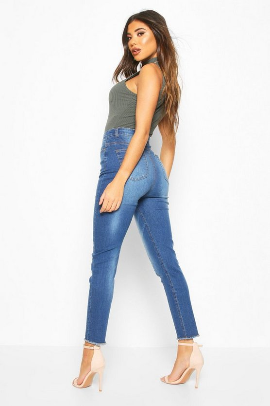 High Rise Seam Front Skinny Jean