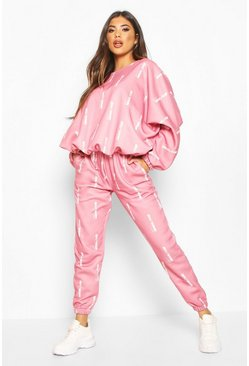 Rose Woman Oversized Jogger