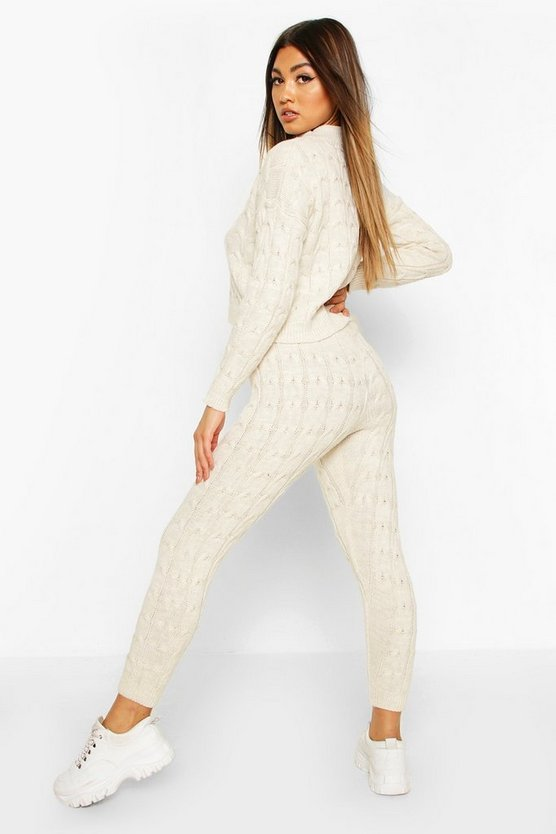 Cable Knit Lounge Set