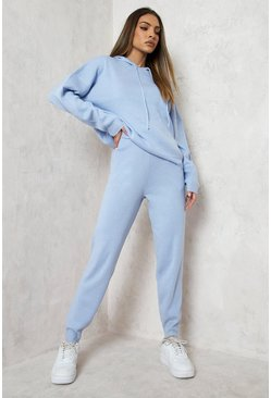 Pastel blue Hoody Knitted Lounge Set