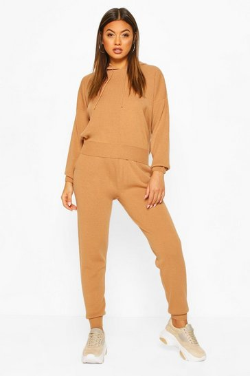Toffee Hoody Knitted Lounge Set