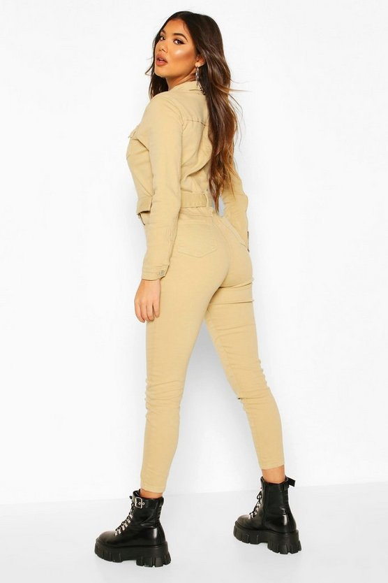 Western Buckle Denim Boiler Suit