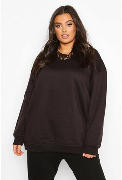 Black Plus - Basic oversize sweatshirt i boyfriendmodell