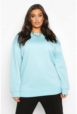 Womens Sage Plus Basic Oversized Boyfriend Sweat