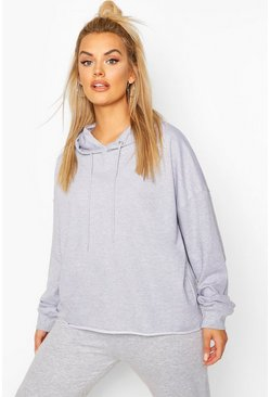 Plus Extreme Oversized Hoody, Grey marl