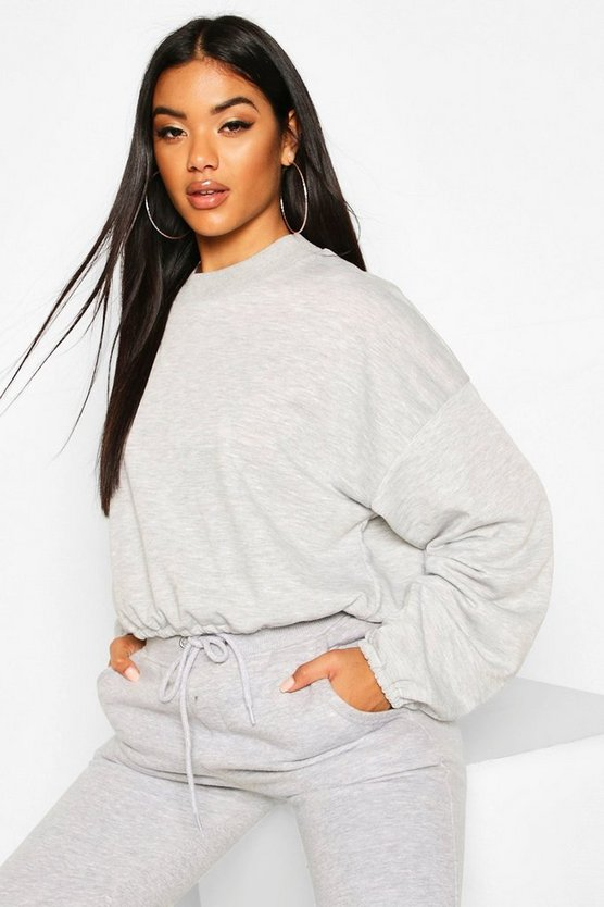 The Basic High Neck Crop Sweat