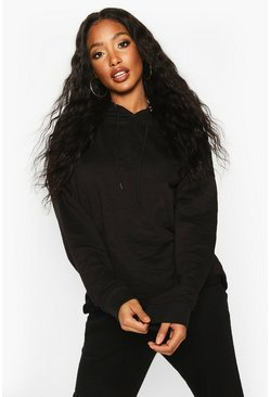 The Basic Oversized Hoody, Black, Donna