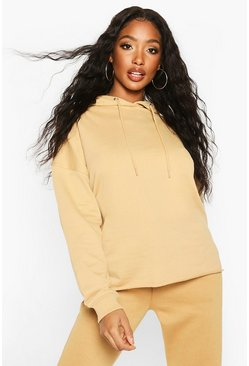 The Basic Oversized Hoody, Camel, MUJER