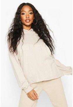 Womens Ecru The Basic Oversized Hoody