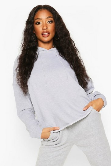 Womens Grey marl The Basic Oversized Hoody
