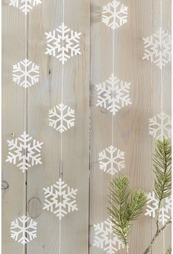 Womens White Snowflake Curtains