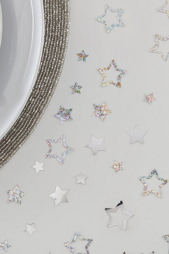 Ginger Ray Silver Star Confetti