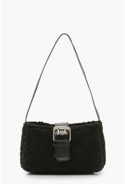 Borg Baguette Bag, Black