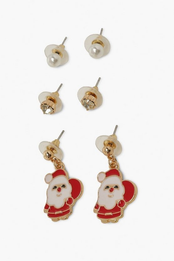 3 Pack Christmas Novelty Earrings