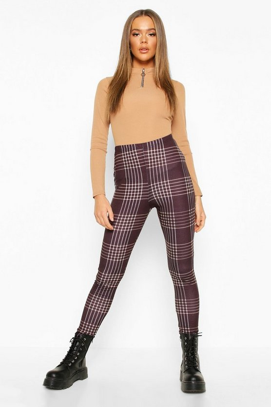 Checked Basic Jersey Leggings