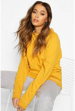 Mustard Oversized Boyfriend Sweat