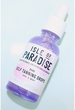 Womens Clear Isle Of Paradise Self Tanning Drops Dark