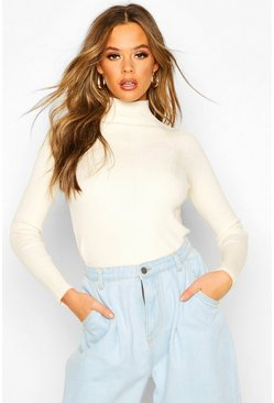 Stone Rib Knit Turtle Neck Top