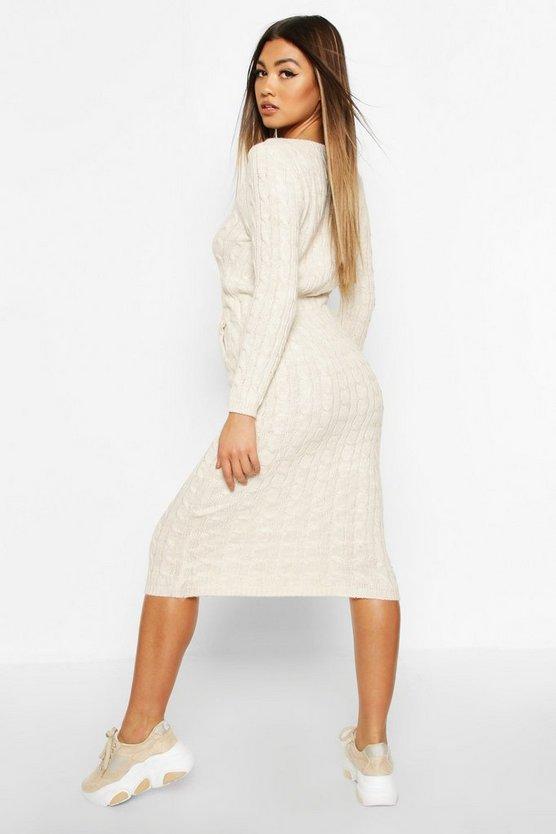 Cable Knit Midi Dress