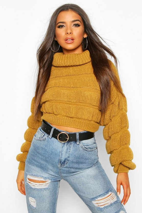 Bubble Knit Cropped Jumper