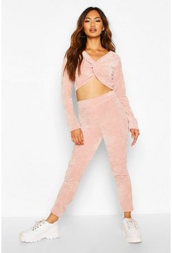 Blush Soft Touch Chenille Crop & Legging Set