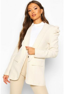 Womens Cream Puff Shoulder Blazer