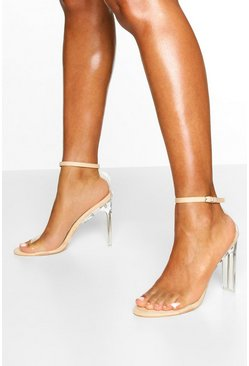 Clear Flat Heel 2 Parts, Nude