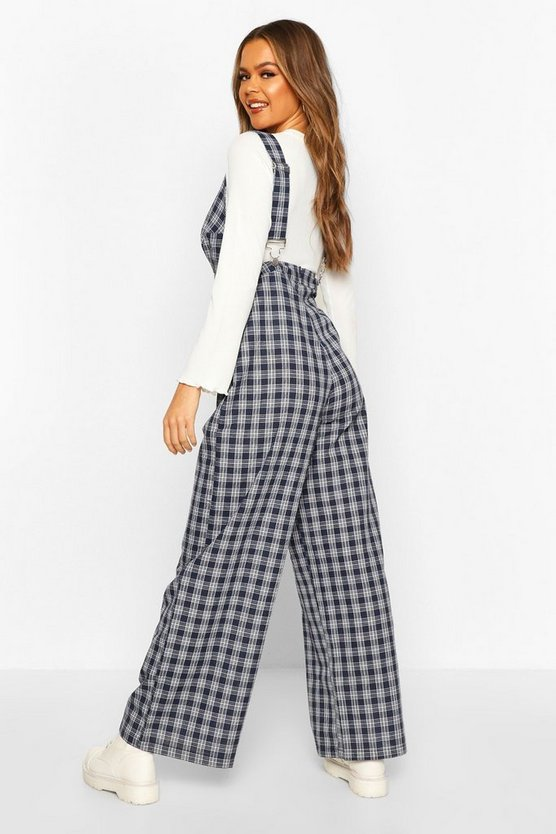 Check Pinafore Jumpsuit