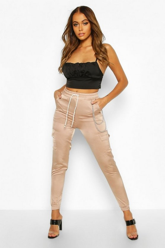 Satin Luxe Utility Joggers