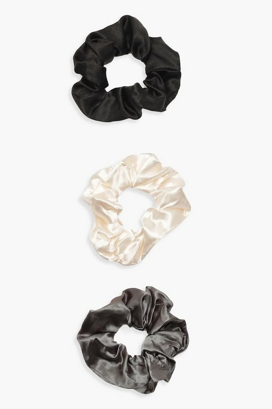 3 Pack Satin Scrunchie