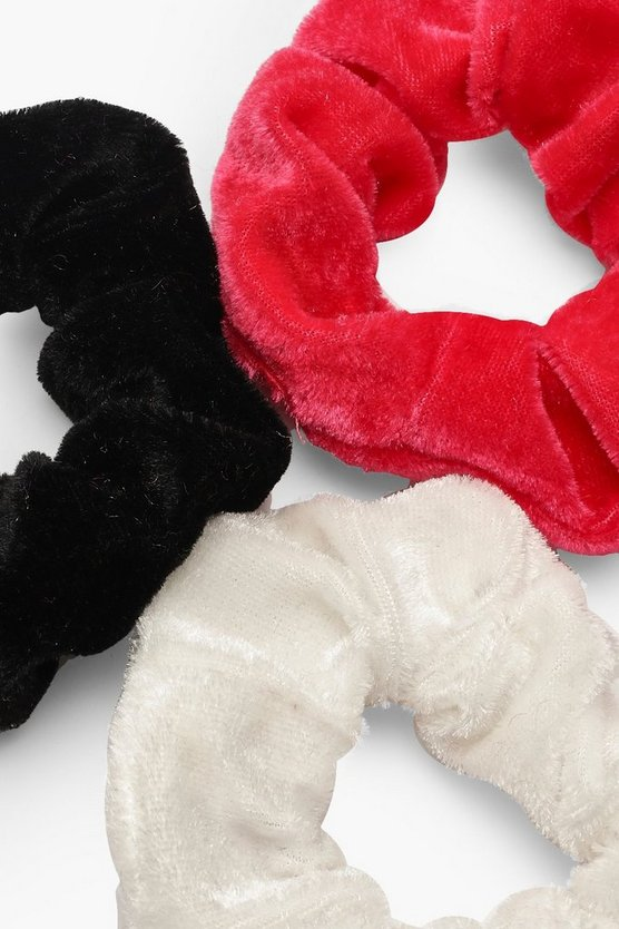 3 Pack Velvet Scrunchie