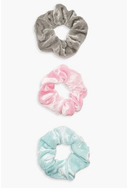 Dam Blue 3 Pack Velvet Scrunchie