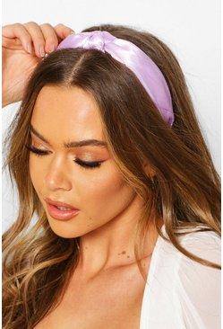 Lilac Twist Knot Satin Headband
