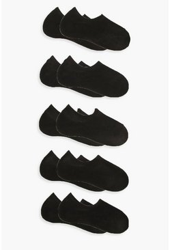 Black 10 Pack Basic Sneaker Socks
