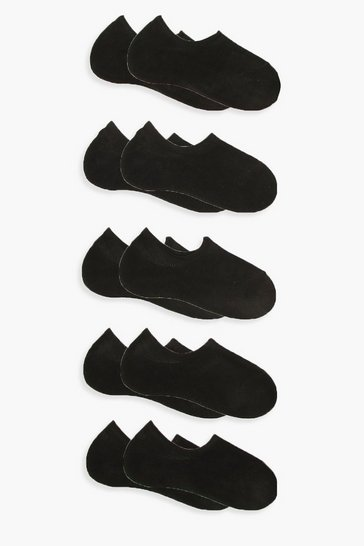 Womens Black 10 Pack Basic Trainer Socks