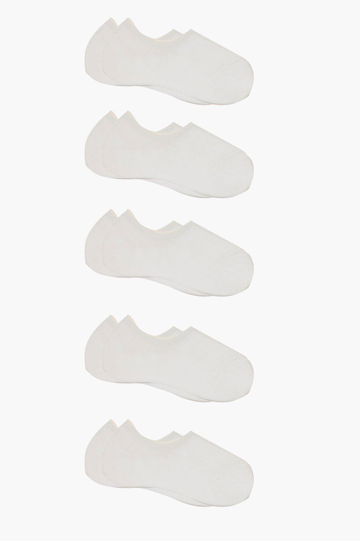 womens 10 pack basic sneakers socks - white - one size